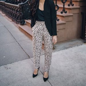Leopard Pull On Pants NWT